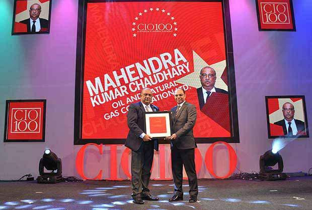 The Transformative 100: Mahendra Kumar Chaudhary, Executive Director and CIO of ONGC receives the CIO100 Award for 2016