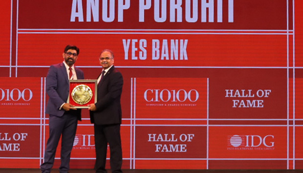 Hall of Fame: Anup Purohit, Group President and CIO for Business and Digital Technology Solutions, YES Bank receives the CIO100 Special Award for 2019