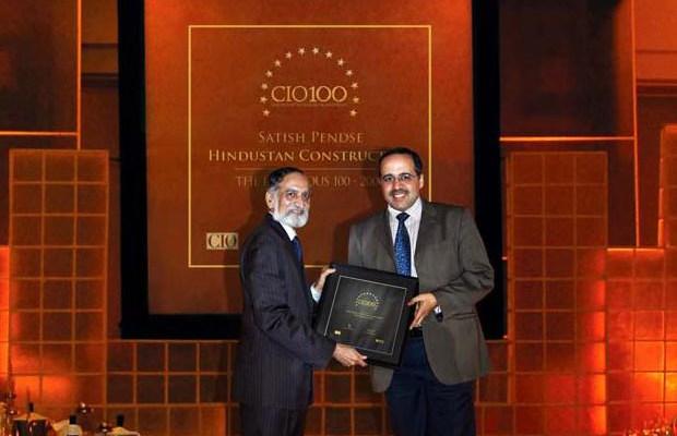 The Ingenious 100: Satish Pendse, CIO of Hindustan Construction receives the CIO100 Award for 2009