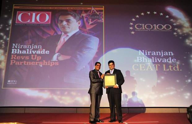 The Creative 100: Niranjan Bhalivade, CIO, CEAT receives the CIO100 Award for 2011