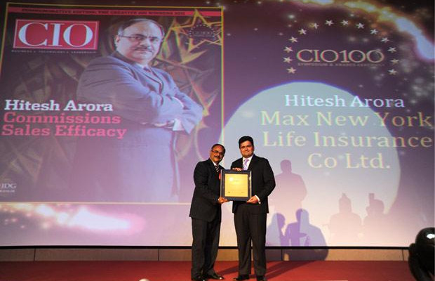 The Creative 100: Hitesh Arora, Director and Head-IT at Max New York Life Insurance receives the CIO100 Award for 2011