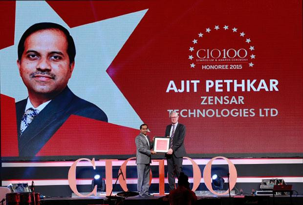 The Versatile 100: Ajit Pethkar, CTO & CIO of Zensar Technologies receives the CIO100 Award for 2015
