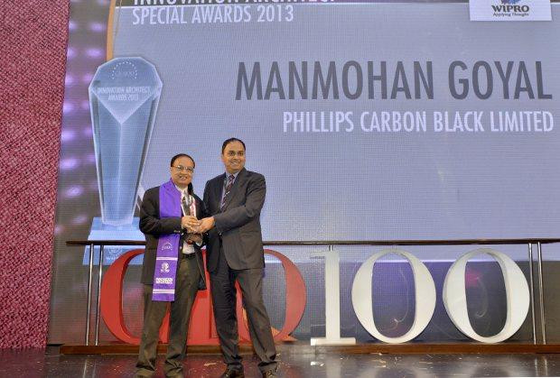 Innovation Architect: Manmohan Goyal, Head IT of Phillips Carbon Black receives the CIO100 Special Award for 2014, constituted in association with Wipro