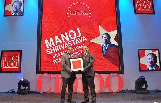 The Transformative 100: Manoj Shrivastava, Director-IT of Sistema Shyam Teleservices receives the CIO100 Award for 2016