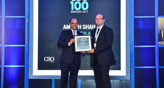 Amar H Shah, CISO, Ashok Leyland receives the CSO100 Award for 2017