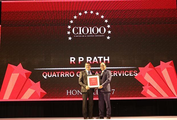 The Digital Innovators: R P Rath, VP-IT of Quatrro Global Services receives the CIO100 Award for 2017