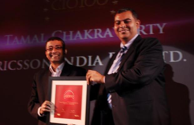 The Agile 100: Tamal Chakravorty, Director-IT, Ericsson India receives the CIO100 Award for 2010