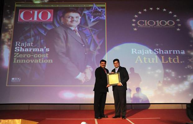 The Creative 100: Rajat Sharma, President-IT of Atul receives the CIO100 Award for 2011