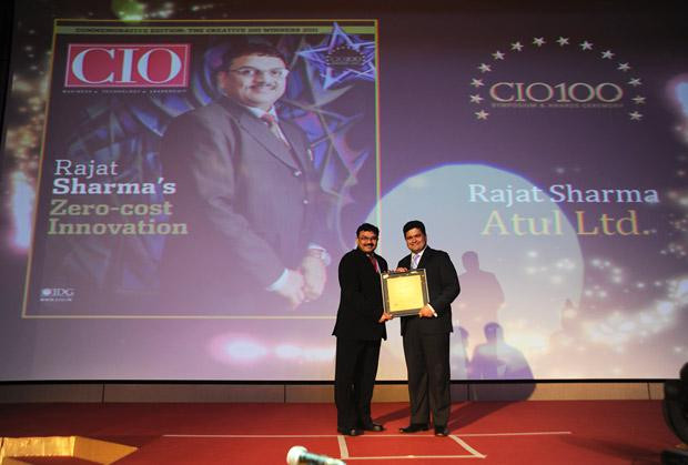 The Creative 100: Rajat Sharma, President-IT of Atul receives the CIO100 Award for 2011