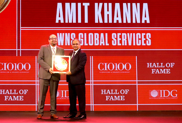 Hall of Fame: Amit Khanna, CIO, WNS Global Services receives the CIO100 Special Award for 2019