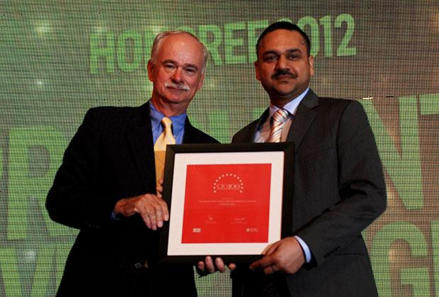 The Resilient 100: Prashanth Veer Singh, CIO & CISO, Bharti Infratel receives the CIO100 Award for 2012.