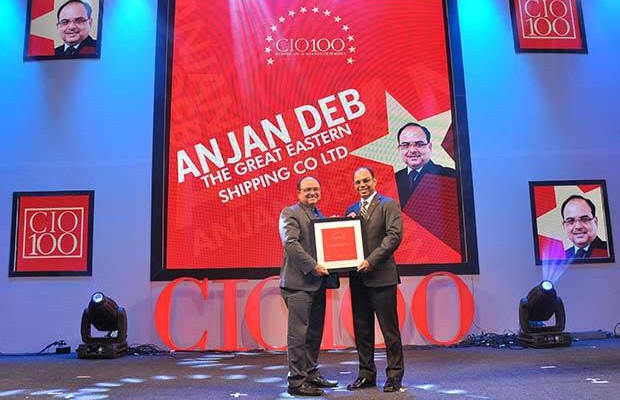 The Transformative 100: Anjan Deb, Head-IT of The Great Eastern Shipping Co receives the CIO100 Award for 2016