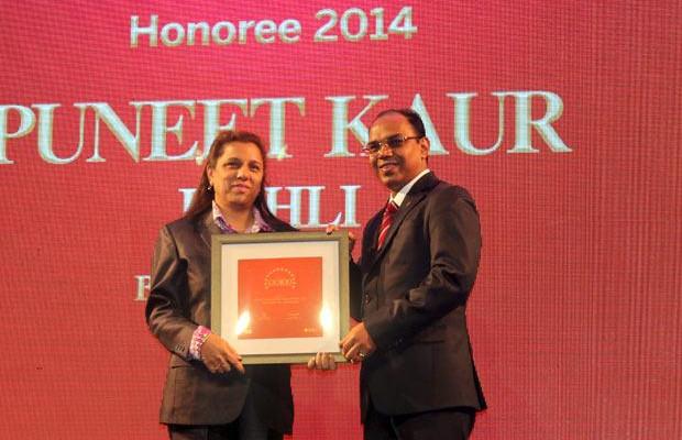 The Dynamic 100: Puneet Kaur Kohli, Group Executive VP-IT Operations and Technologies of Bajaj Capital receives the CIO100 Award for 2014