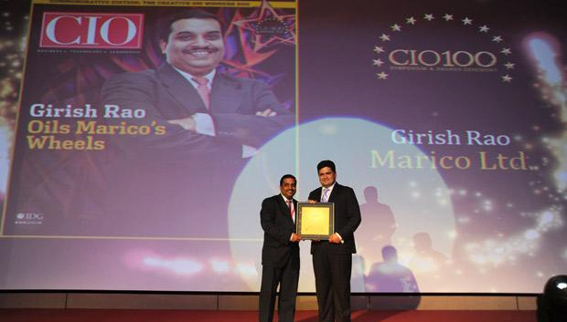 The Creative 100: Girish Rao, Head IT of Marico receives the CIO100 Award for 2011