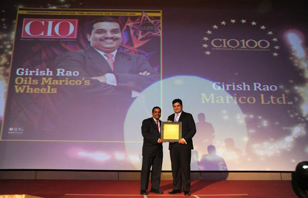 The Creative 100: Girish Rao, Head IT of Marico receives the CIO100 Award for 2011