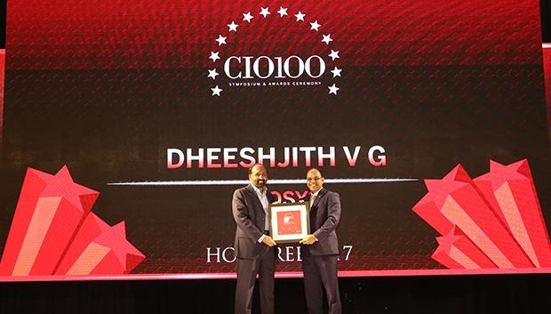 The Digital Innovators: Dheeshjith V G, CIO-Internal Infrastructure of Infosys receives the CIO100 Award for 2017