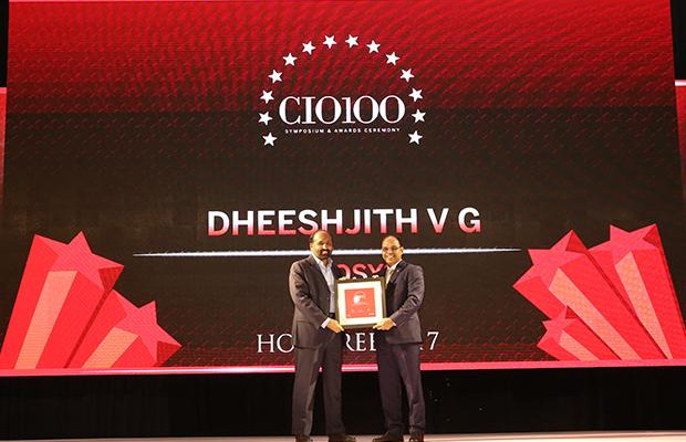 The Digital Innovators: Dheeshjith V G, CIO-Internal Infrastructure of Infosys receives the CIO100 Award for 2017