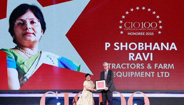 The Versatile 100: Shobhna Ravi, chief information and learning officer of Tractors and Farm Equipment, receives the CIO100 Award for 2015