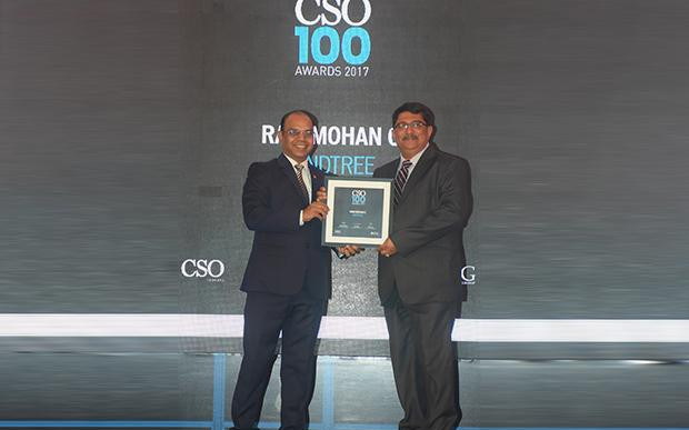 Ram Mohan, the executive VP and Head of IMS, Enterprise Integration and Mainframe Services at Mindtree receives the CSO100 Award for 2017.