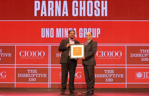 The Disruptive 100: Parna Ghosh, Group CIO, UNO Minda Group receives the CIO100 Award for 2019