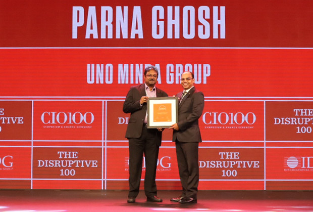 The Disruptive 100: Parna Ghosh, Group CIO, UNO Minda Group receives the CIO100 Award for 2019