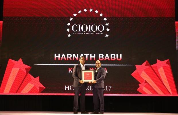 The Digital Innovators: Harnath Babu, CIO of KPMG India receives the CIO100 Award for 2017
