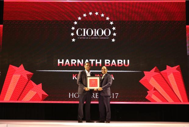 The Digital Innovators: Harnath Babu, CIO of KPMG India receives the CIO100 Award for 2017