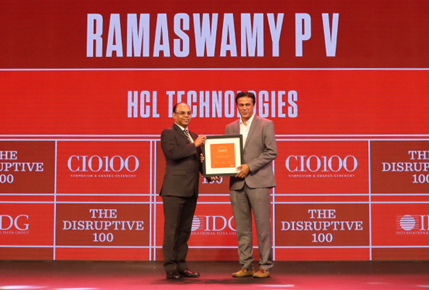 The Disruptive 100: Ramaswamy PV, Chief Information Officer, HCL Technologies receives the CIO100 Award for 2019