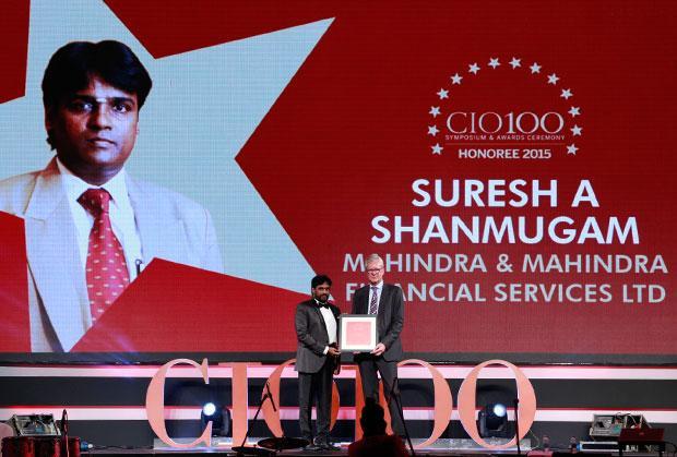 The Versatile 100: Suresh A Shanmugam, Head - Business IT, Mahindra & Mahindra Financial receives the CIO100 Award for 2015.