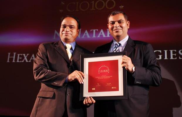 The Agile 100: Nataraj N, Global CIO of Hexaware Technologies receives the CIO100 Award for 2010