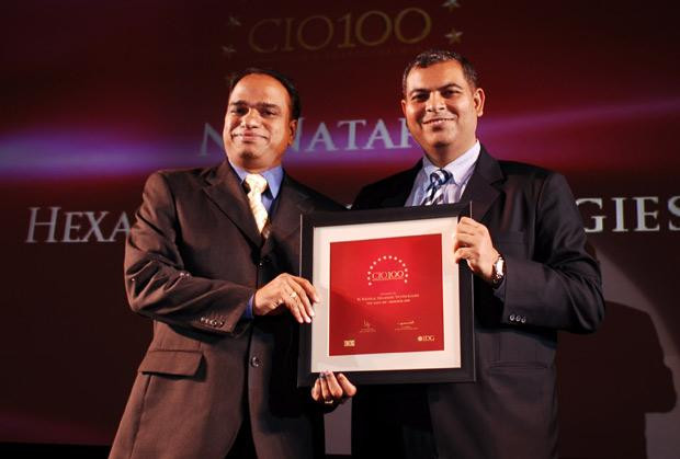 The Agile 100: Nataraj N, Global CIO of Hexaware Technologies receives the CIO100 Award for 2010