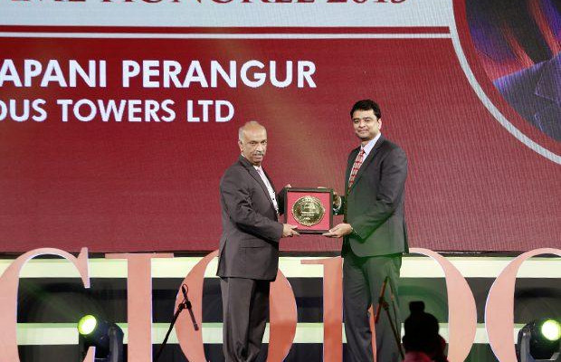 Hall of Fame: Chakrapani Perangur, CIO of Indus Towers receives the CIO100 Special Award for 2015