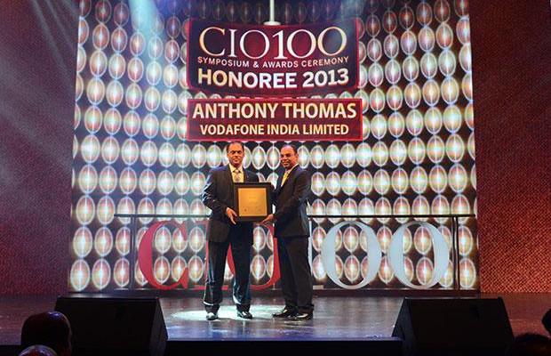 The Astute 100: Anthony Thomas, CIO, Vodafone India receives the CIO100 Award for 2013