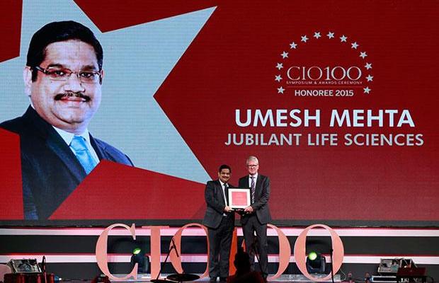 The Versatile 100: Umesh Mehta, CIO-India of Jubilant Life Sciences receives the CIO100 Award for 2015