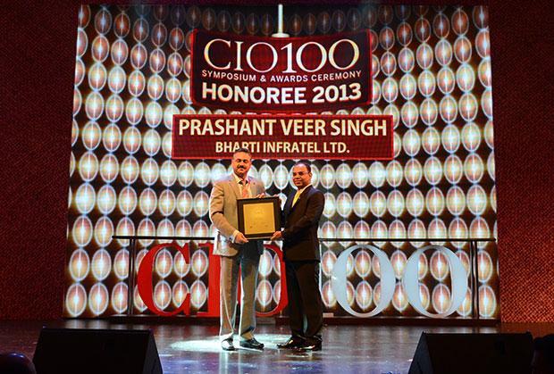 The Astute 100: Prashanth Veer Singh, CIO & CISO, Bharti Infratel receives the CIO100 Award for 2013.