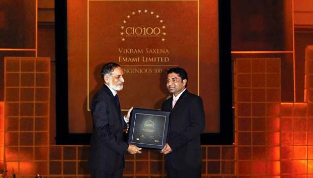 The Ingenious 100: Vikram Saxena, Associate VP- IT of Emami receives the CIO100 Award for 2009