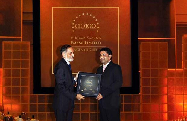 The Ingenious 100: Vikram Saxena, Associate VP- IT of Emami receives the CIO100 Award for 2009