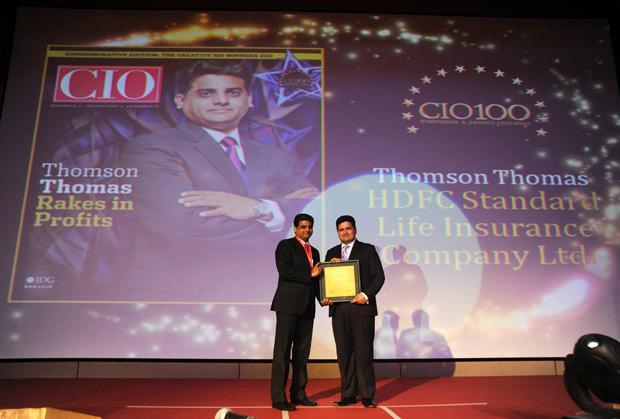 The Creative 100: Thomson Thomas, CIO of HDFC Life Insurance Co receives the CIO100 Award for 2011