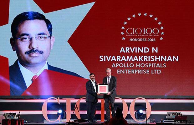The Versatile 100: Arvind Sivaramakrishnan, Group CIO of Apollo Hospitals receives the CIO100 Award for 2015