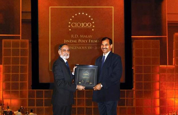 The Ingenious 100: R D Malav, VP - IT of Jindal Group receives the CIO100 Award for 2009