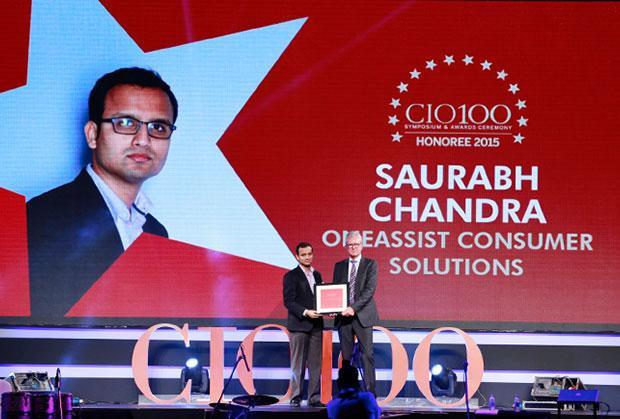 The Versatile 100: Saurabh Chandra, CIO, Oneassist Consumer Solutions receives the CIO100 Award for 2015