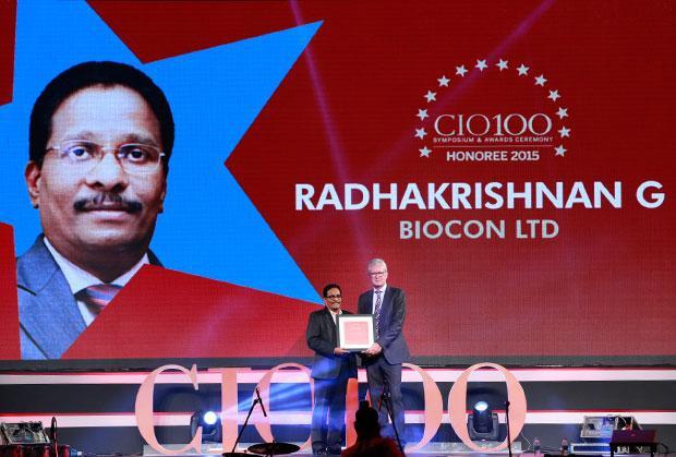 The Versatile 100: Radha Krishnan Menon, IT Head of Biocon receives the CIO100 Award for 2015