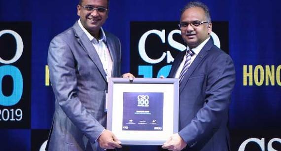 Harish Jain, CISO, CNH Capital India, receives the CSO100 Award for 2019