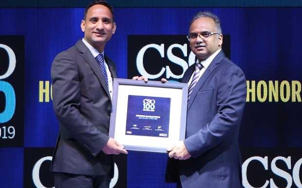 Muneer Kongawani, CISO & head enterprise networks at J&K Bank receives the CSO100 Award for 2019
