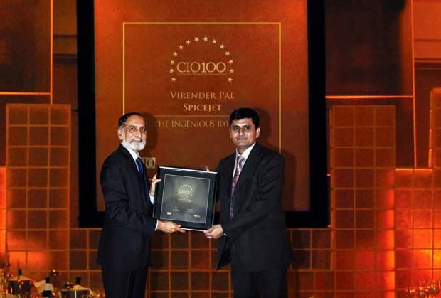 The Ingenious 100: Virender Pal, CTO of SpiceJet receives the CIO100 Award for 2009.