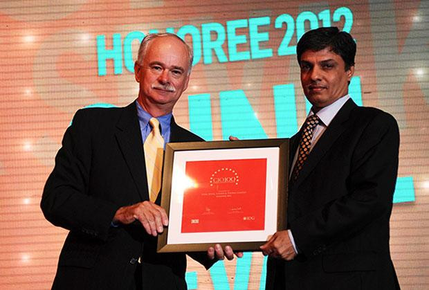 The Resilient 100: Sunil Sevak, Dy. Head- Enterprise IT Infrastructure of Larsen & Toubro (L&T) receives the CIO100 Award for 2012