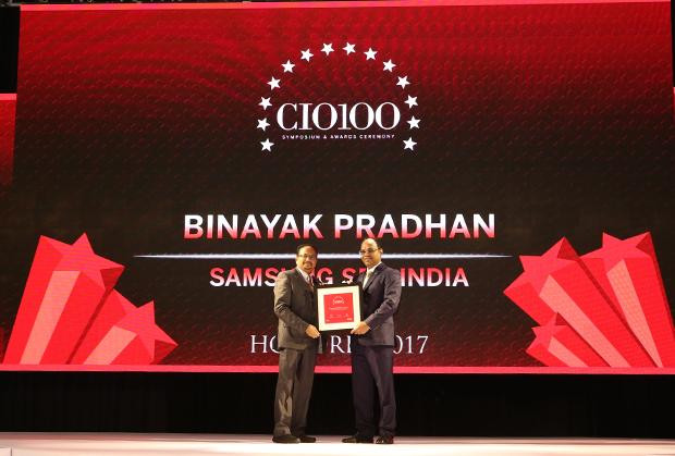 The Digital Innovators: Binayak Pradhan, Director, Samsung SDS India receives the CIO100 Award for 2017
