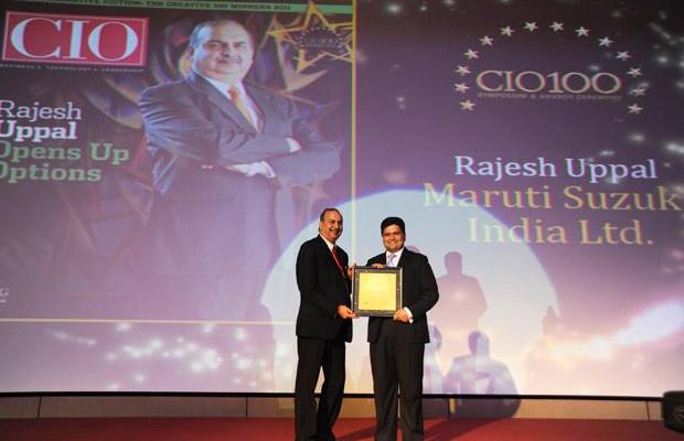 The Creative 100: Rajesh Uppal, CIO, Maruti Suzuki India receives the CIO100 Award for 2011