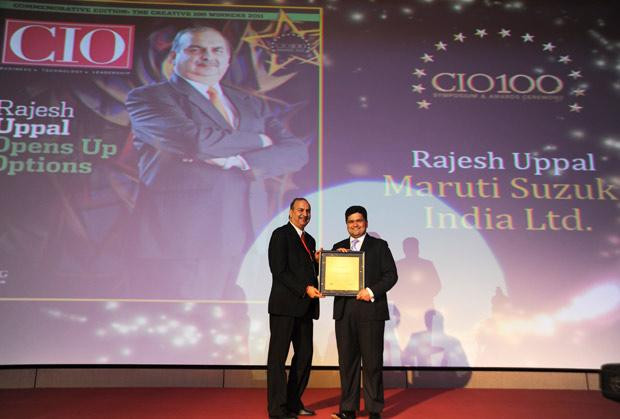 The Creative 100: Rajesh Uppal, CIO, Maruti Suzuki India receives the CIO100 Award for 2011