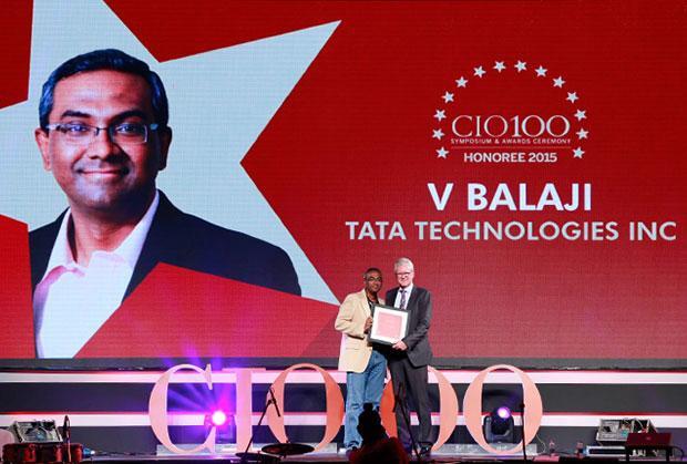 The Versatile 100: V Balaji, CIO of Tata Technologies receives the CIO100 Award for 2015